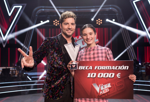 Irene Gil, from David Bisbal's Team, Wins The Voice Kids Final